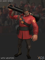 Soldier - Team Fortress 2 (Blue and Red) by JhonyHebert