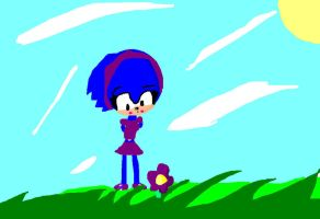 Sonic as a little girl by Tikal143