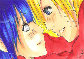 ACEO Card NaruHina by Jin-emon