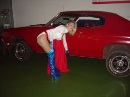 powergirl lifts car 1 by ilikesuperwomens