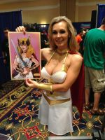 Tanya Tate and my Art Print by irongiant775