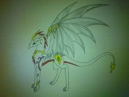 request: white dragon by cynderplayer