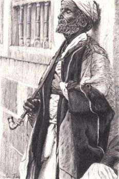 Bedouin in Alexandria, Egypt by reesmeister