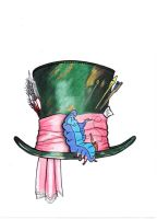 Mad Hatter and Caterpillar Tattoo by In-The-Skin