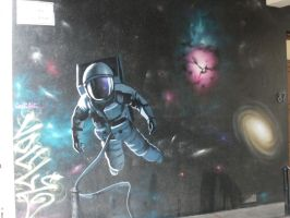 Astronaut in the street by zergkiller