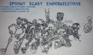 SPOOKY SCARY ENDO SKELETONS!!! by RIAEA