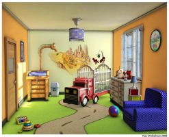 Safari baby room by shtibel