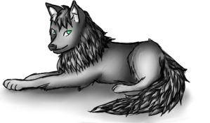 wolf for Ari by EllenorMererid