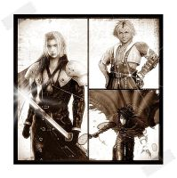 Final Fantasy guys by DarkMagicianQueen