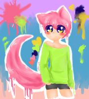 Pink and green by yui-cute