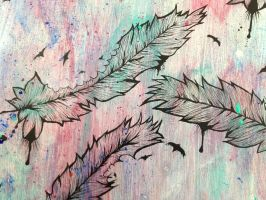 Feathers Time Lapse by chriskelleyart