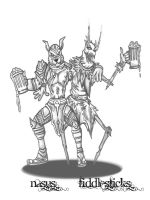 Nasus and Fiddlestick XD by k3ryusS