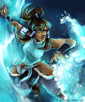 Legend of Korra - surf by D-Kitsune