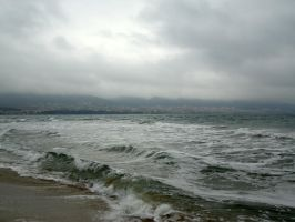 Stormy Sea by NirnaetStock