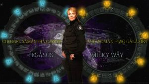 Amanda Tapping Two Galaxies by Dave-Daring