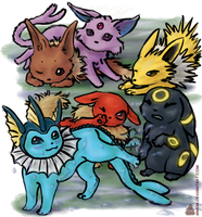 evee and the evoluteners by ankin