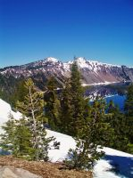 Crater Lake View #2 by Kristina-Henderson