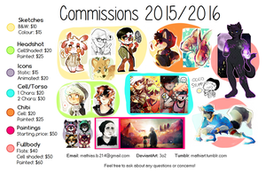 Commissions 2015/2016 OPEN by 3o2