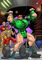 Gen-13 Muscle Goddess by muscle-fan-comics