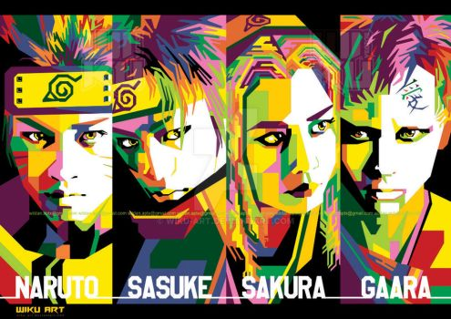 Naruto Live Action in WPAP by wiku-art