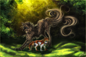 .:lovely childhood:. by WhiteSpiritWolf