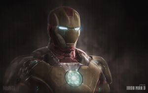 Ironman3 Portrait Mark 42 by Jfields217