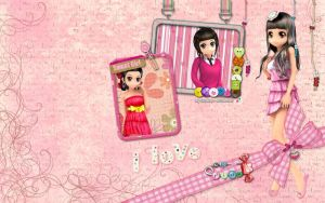 I love pink by Au2Art