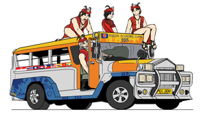 Philippines Jeepney - The Igorot roadshow by VachalenXEON