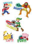 Nintendo stickers by DCP16