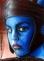 Aayla Secura Sketch Card by RandySiplon