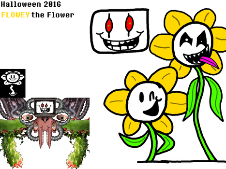 Month of Halloween 3 of 3 - Flowey the Flower by maxkid1030
