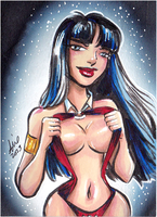 Daily Sketchs: Vampirella week 3 by mainasha