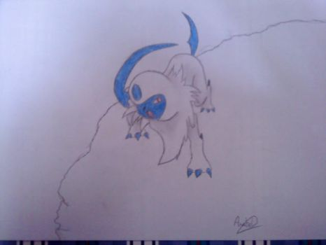 Absol Drawing by Annie1497