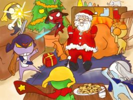 santa hunt colored by roronoa467