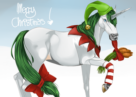 Christmas Unicorn by MattyGreenleaf