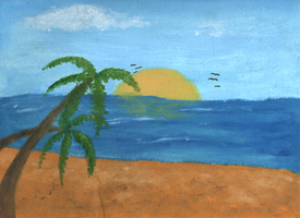Beach Painting by accasperberry3