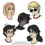 Homestuck Sketches by NikkiXOdd4eva