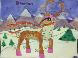 Fakemon Legendary: Dierion Watercolor by Brawl483