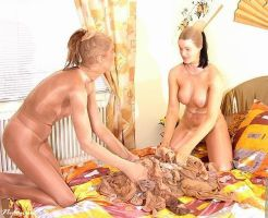 Dee and Nadine Nylon Orgy 1 by crazy6666
