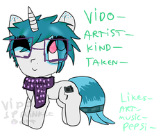 Ref sheet:: Vido pony (UPDATE) by Pancake-butterr