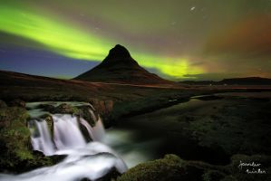 Kirkjufell with polar lights by jaroslavnisler