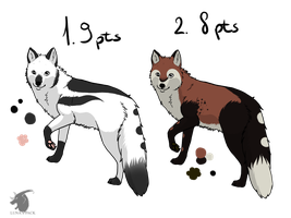 Foxes adoptables 1 _CLOSED_ by thelunapower