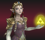 Princess Zelda, guardian of the Triforce by Ilora24