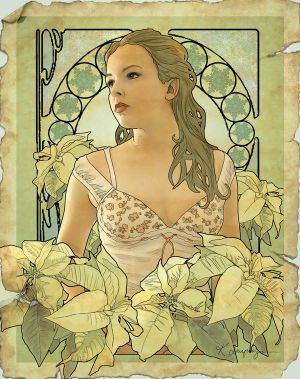 Noel in art nouveau by CassiopeiaArt