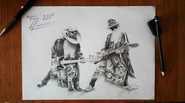 ZZ TOP by Toxinman