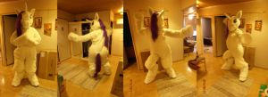 Rarity Fursuit WIP 31/08/2012 by FoxOFWar