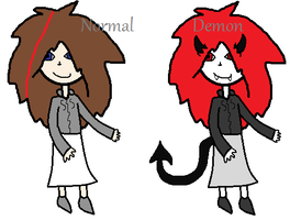 Chiflore normal and demon by Zerada