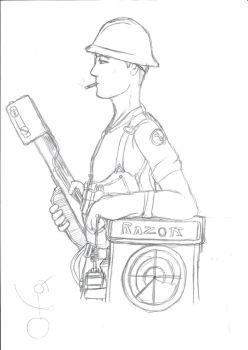 Old art: TF2 Engineer OC by FrontierArtist