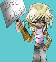 Zorc Wanted Sign by Uxiethecat