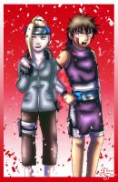 Ino and Kiba :Outfit Switch 2: by TharenStorm